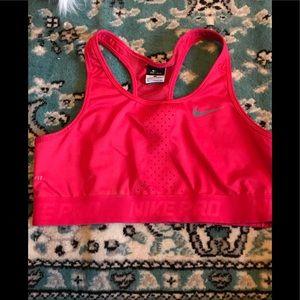 Hot pink dry fit Nike sportsbra